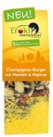 Champignon Burger mit Mandeln & Majoran
